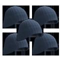5x Blue Beenie Hat